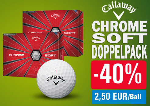 Callaway Golfbälle Angebot Chrome Soft